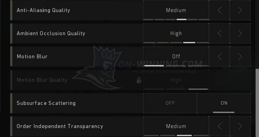 Shroud Blackout Video Settings