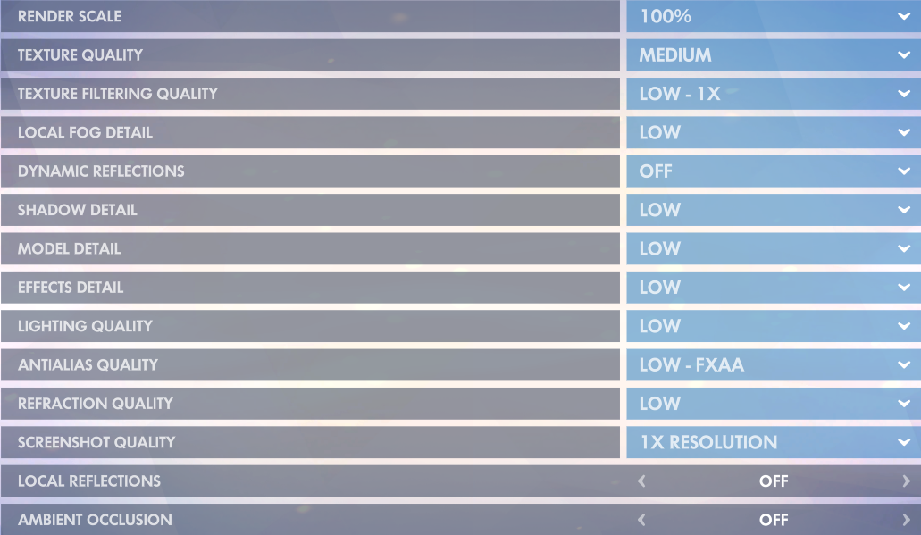 Best Overwatch Competitive Play Video Settings