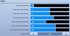 Ninja Sensitivity Settings in Fortnite